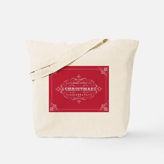 Vintage Christmas typography Tote Bag