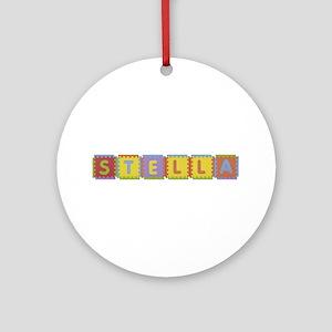 Stella Foam Squares Round Ornament