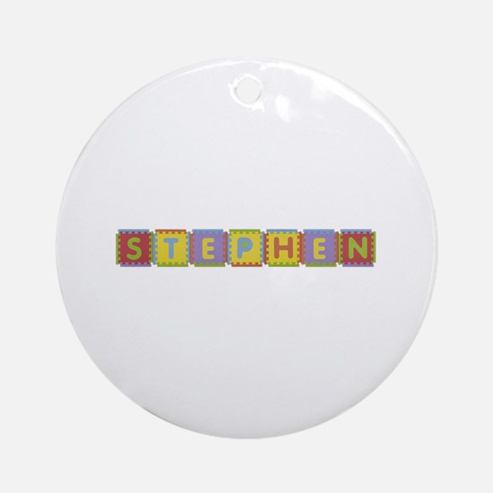 Stephen Foam Squares Round Ornament