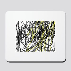 Black and Yellow lines Mousepad
