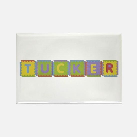Tucker Foam Squares Rectangle Magnet