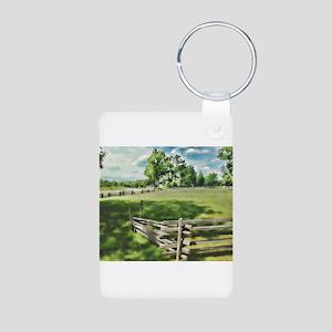 Farm Fence Color Keychains