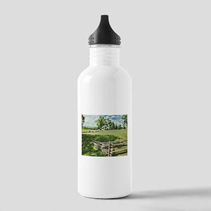 Farm Fence Color Water Bottle