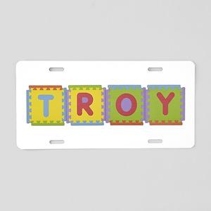 Troy Foam Squares Aluminum License Plate