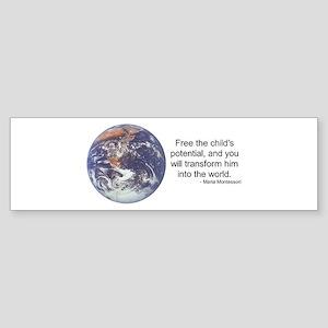 Montessori World - Potential Bumper Sticker