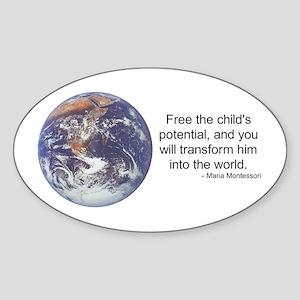 Montessori World - Potential Oval Sticker