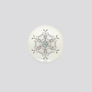 Iridescent Snowflake Mini Button