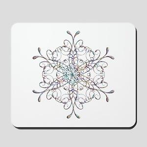 Iridescent Snowflake Mousepad
