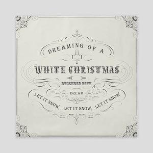 Vintage White Christmas Queen Duvet