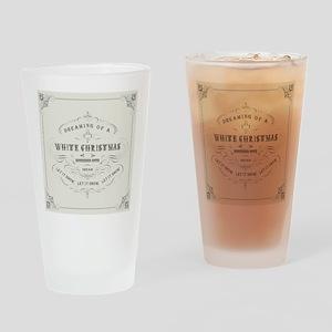 Vintage White Christmas Drinking Glass