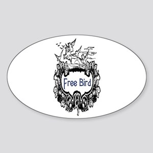 FREE BIRD Sticker (Oval)
