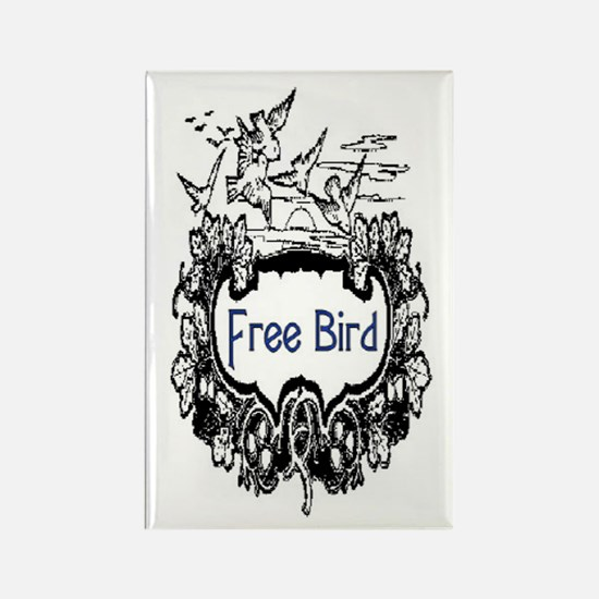 FREE BIRD Rectangle Magnet
