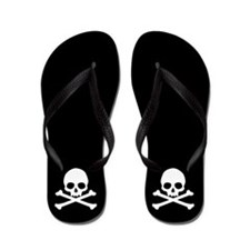 Simple Skull And Crossbones Flip Flops