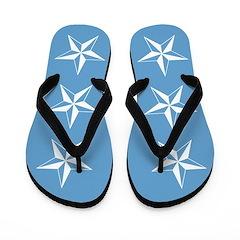 Blue Stars Flip Flops