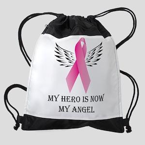 My Hero is now My Angel Drawstring Bag
