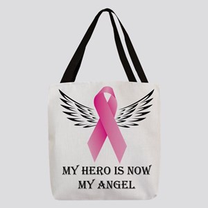 My Hero is now My Angel Polyester Tote Bag
