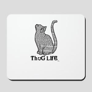 thug life kitty cat kitten Mousepad