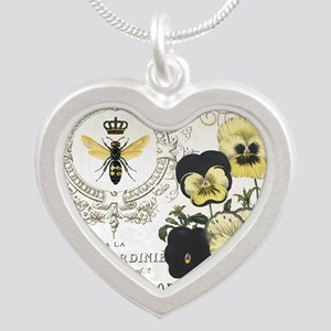 Modern Vintage French Pansies Necklaces