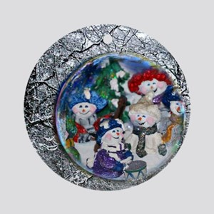 snowmen Round Ornament