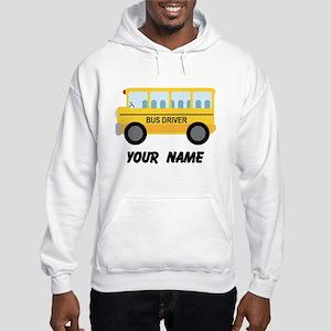 Personalized School Bus Driver Hooded Sweatshirt