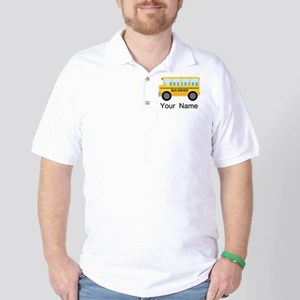 Personalized School Bus Driver Golf Shirt