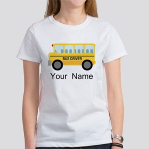 Personalized School Bus Driver Women's T-Shirt