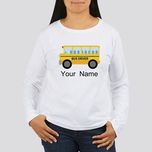 Personalized School Bus Driver Women's Long Sleeve