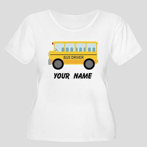 Personalized School Bus Driver Women's Plus Size S