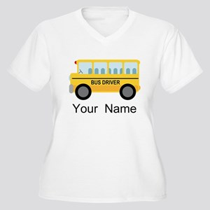 Personalized School Bus Driver Women's Plus Size V