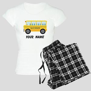 Personalized School Bus Driver Women's Light Pajam