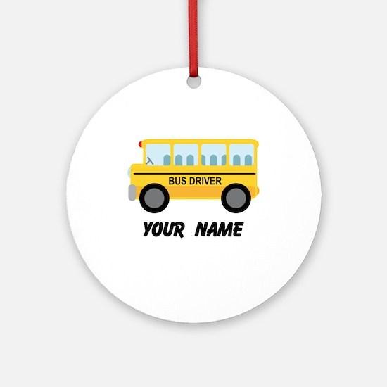 Personalized School Bus Driver Ornament (Round)