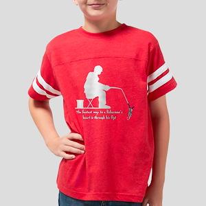 flyfishdark Youth Football Shirt