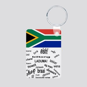 South African Slang Aluminum Photo Keychain