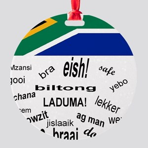 South African Slang Round Ornament