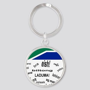 South African Slang Round Keychain