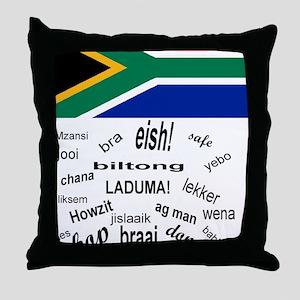 South African Slang Throw Pillow