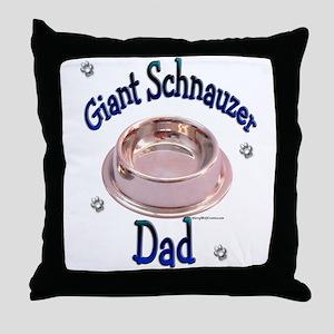 Schnauzer Dad Throw Pillow