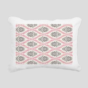 pink grey cream elegant  Rectangular Canvas Pillow