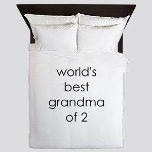 worlds best grandma of 2 Queen Duvet
