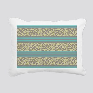 elegant ornate damask an Rectangular Canvas Pillow