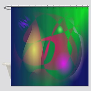 Green Ray Shower Curtain