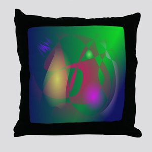 Green Ray Throw Pillow