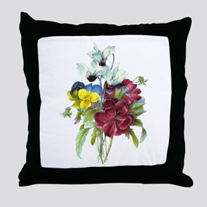 Redoute Bouquet Throw Pillow