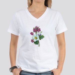 Redoute Bouquet Women's V-Neck T-Shirt