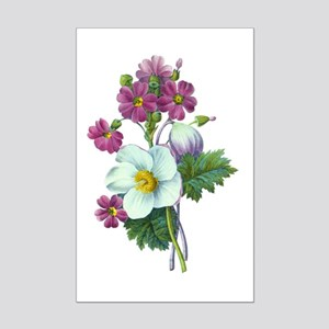 Redoute Bouquet Mini Poster Print