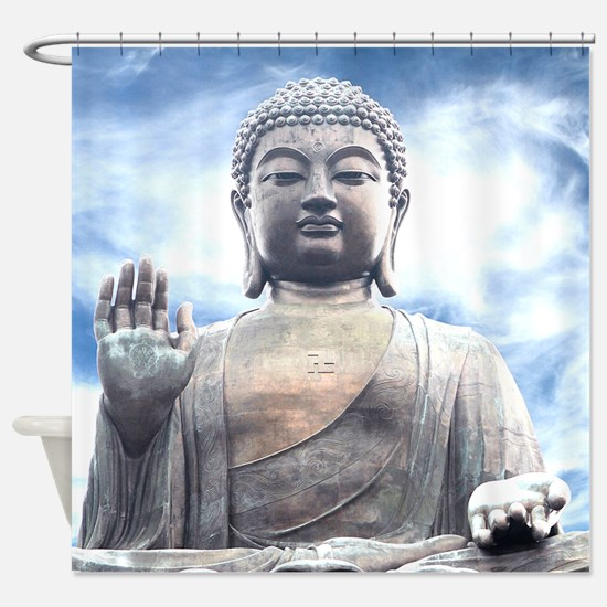 Buddha Statue Shower Curtain