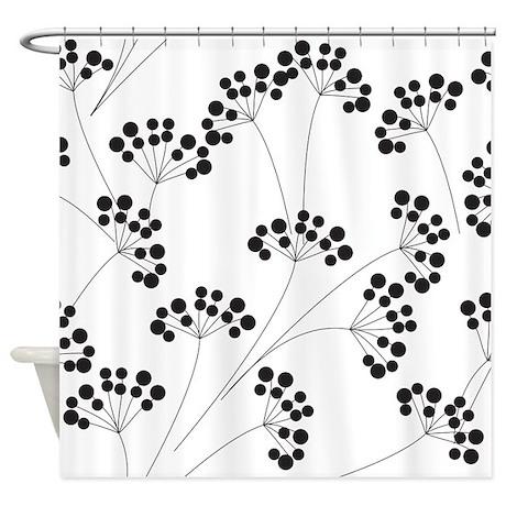 Elegant Black and White Shower Curtain by BestShowerCurtains