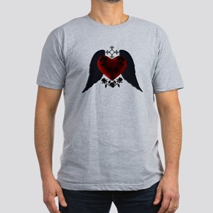 Black Winged Goth Heart T-Shirt