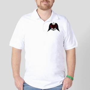 Black Winged Goth Heart Golf Shirt