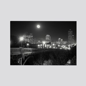 Columbia Skyline At Night Rectangle Magnet